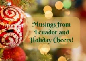 Musings from Ecuador and Holiday Cheers!